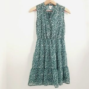 Mossimo Supply Co. Green Bird and Leaf Print Dress